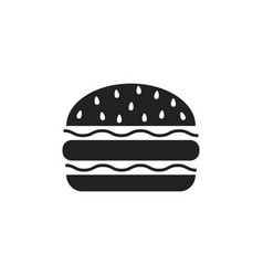 Burger fast food flat icon hamburger symbol logo vector
