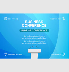 business conference simple template invitation vector image