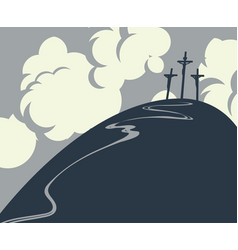 calvary and crosses vector image