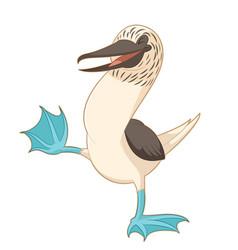 cartoon happy booby vector image