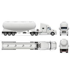 Cement bulk carrier truck mockup vector