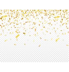 Christmas golden confetti falling shiny glitter vector