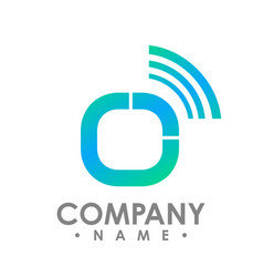 circle wifi logo design technology wifi logo vector image