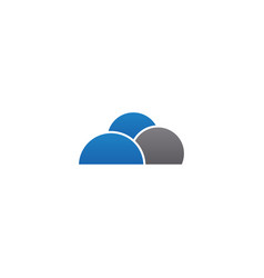 cloud logo icon design template vector image