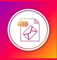Color line msg file document download msg button vector
