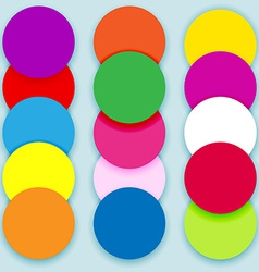 Colorful circles layered vector image