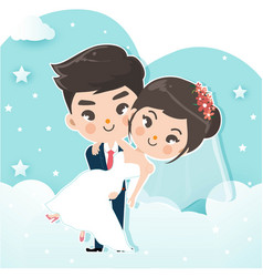 couple carry vector image