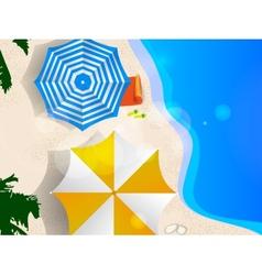 Couple of umbrellas vector image