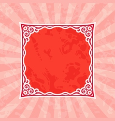 Decorative Red Vintage Frame and Background vector image