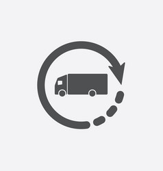 delivery truck icon symbol vector image