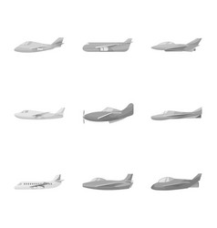 Design aviation and airline logo set of vector