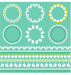 easter borders and circle frames vector image