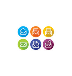 email letter logo icon vector image