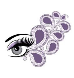 Eyes floral vector