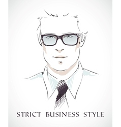 Fashion businessman portrait vector image