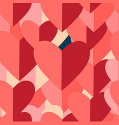 graphic pattern red hearts vector image