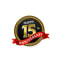 happy 15 years golden anniversary logo vector image