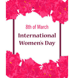 happy international womens day greeting card vector image