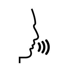 Head speaking man vector