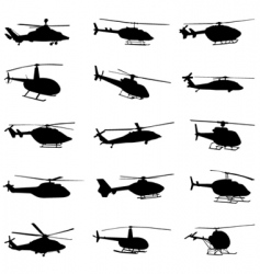 Helicopter set vector