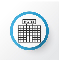 Hotel building icon symbol premium quality vector