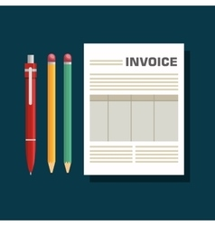 Invoice document flat isolated icon vector