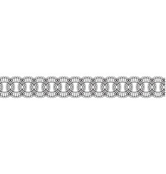 Lace design line on white background vector