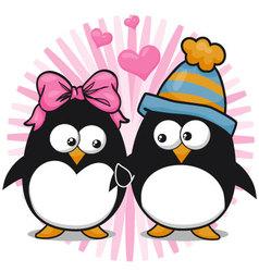 Leodesenhos-penguins valentines day vector