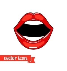Lips icon 7 vector