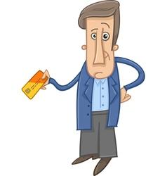 Man with credit card cartoon vector