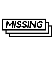 missing stamp on white vector image