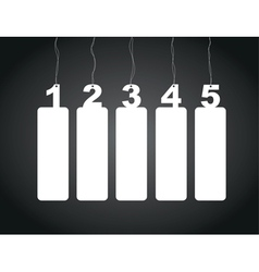 number tag labels vector image