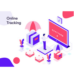online tracking isometric modern flat design vector image