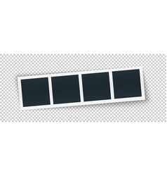 photo frame strip template in realistic style vector image