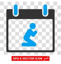 Pray Person Calendar Day Eps Icon vector
