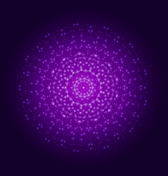 purple light mandala abstract ornament vector image
