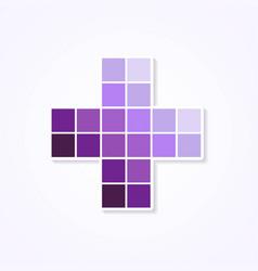 purple monochromatic color plus design vector image