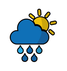 Rain weather isolated icon vector