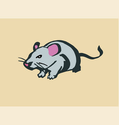 rat stylized line drawing vector image