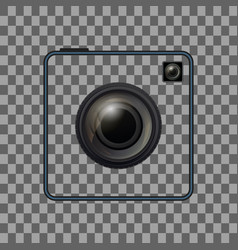 retro camera template vintage photo camera frame vector image