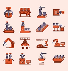 Robot manufacture icon vector image