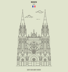 saint-ouen abbey church in rouen vector image