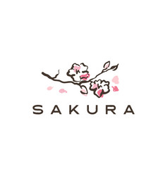 Sakura logo icon vector