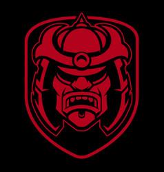 Samurai logo design vector