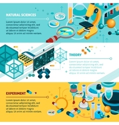 Science Banners Set vector image