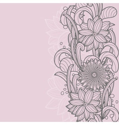 seamless floral card vector image