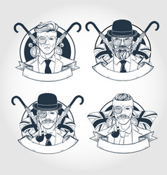 set british men vector image
