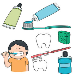 Set of oral care vector
