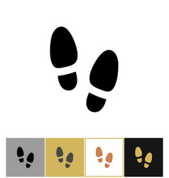 Shoe step print icon shoes footstep sign or vector