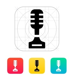 Singer icon on white background vector image